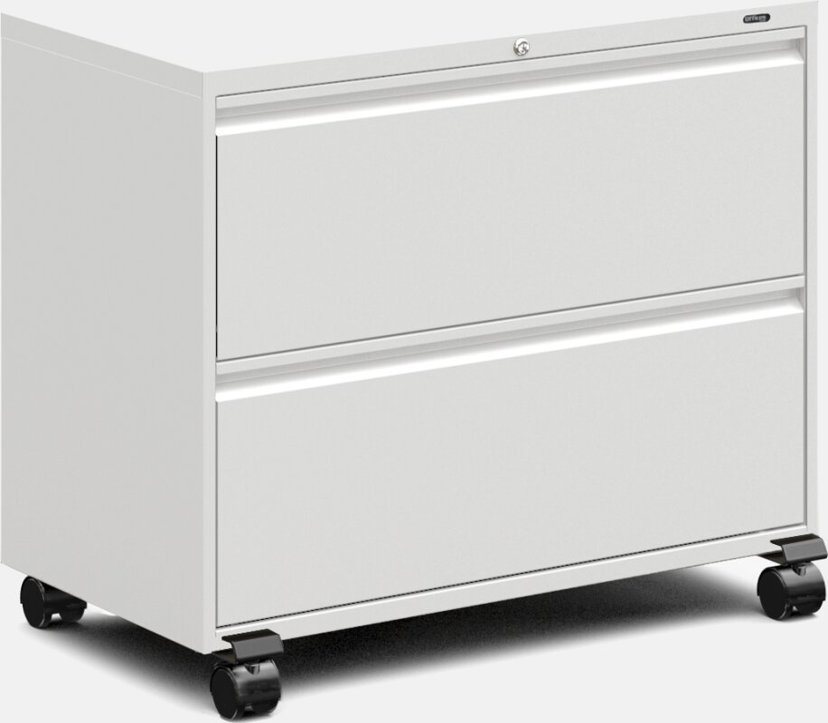 Mobile 2 Drawer Lateral File Cabinet