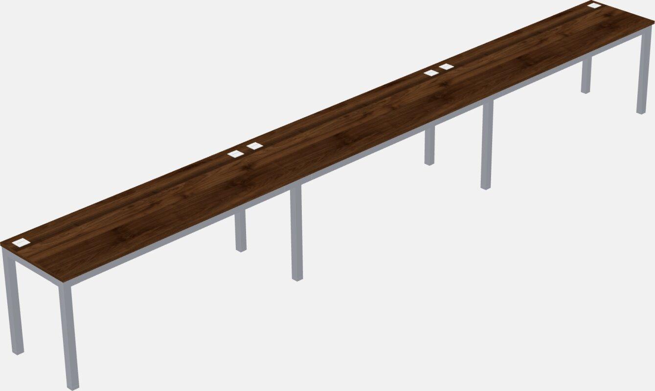 Metal Framed Rectangular Desk